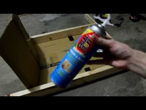Making a cheap archery target with Great Stuff foam insulation