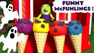 McDonalds Drive Thru Fun with Funny Funlings Spooky Ice Cream and Thomas and Friends Trains TT4U