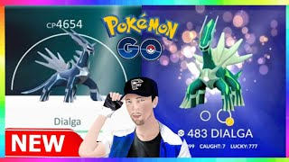 DIALGA NEXT LEGENDARY RAID BOSS in Pokemon Go! SHINY GROWLITHE CAUGHT