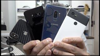 Galaxy S9+ versus iPhone X, Google Pixel 2 XL Galaxy S8+