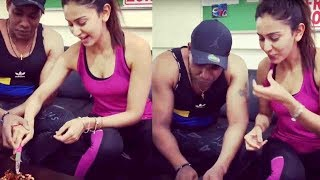 Rakul Preet Singh Birthday Celebrate With Gym Trainer @ #RakulPreetSingh
