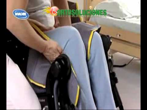 Transferencia cama silla de ruedas con Arnes