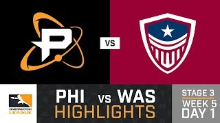 HIGHLIGHTS Philadelphia Fusion vs. Washington Justice | Stage 3 | Week 5 | Day 1 | Overwatch League