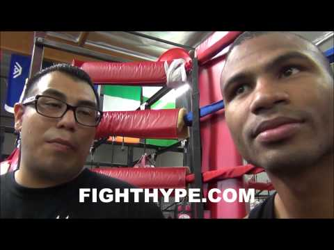 THOMAS DULORME ON SPARRING WITH MADIANA HE HAS A PRETTY STRONG PUNCHHES PRETTY DIFFICULT