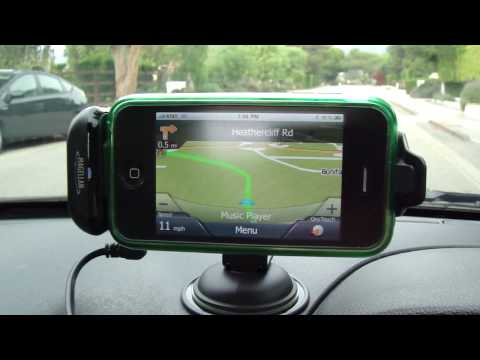 Magellan GPS Navigation Premium Car Kit Pre-Release In-Car / On-Road Review (iPhone or iPod Touch)