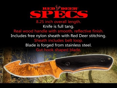 Red Deer Hunting Full Tang Knife Video