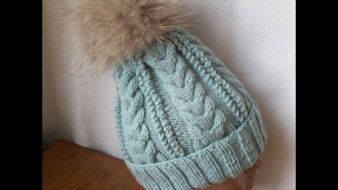 Вязание на пяти спицах шапка