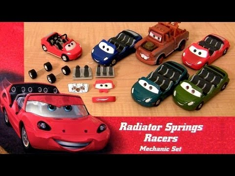 CARS Radiator Springs Mechanic Set Lightning McQueen Cars Land Radiator Springs Racers Assembly Toy