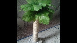 كيف تصنع نخلة   How to make a Palm tree