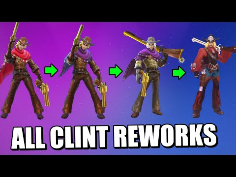 ALL CLINT REWORKS SINCE THE BEGINNING OF MOBILE LEGENDS IN ONE VIDEO