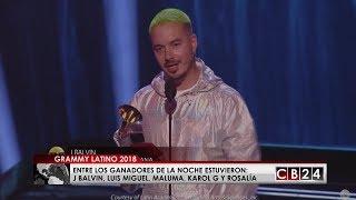 J Balvin Luis Miguel Y Maluma Triunfaron En Los Latin Grammy 2018