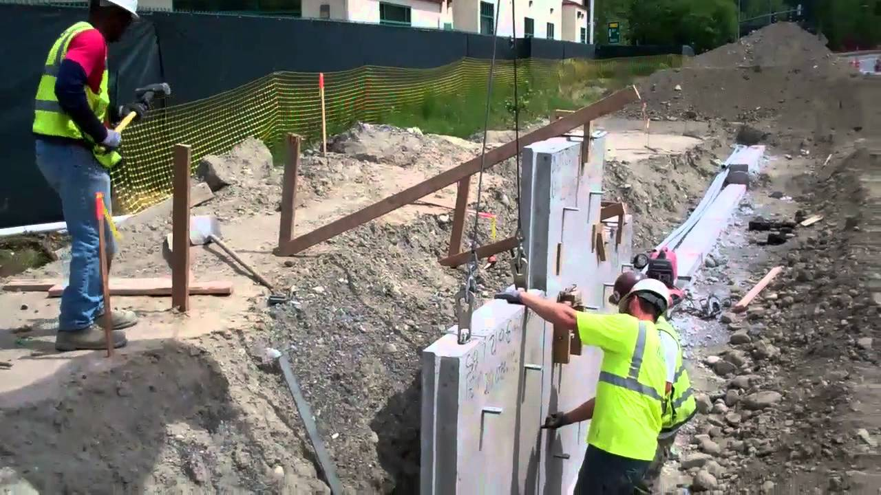 Mse Wall Construction : Mse wall youtube