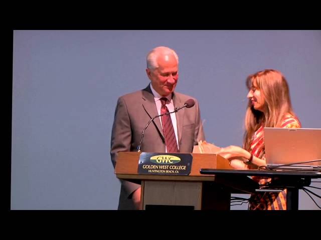 Ron Lowenberg Gift - 2014 Golden West College Peace Conference