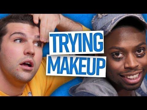 Guys Attempt Fake Eyelashes (Dude View)