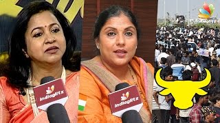 Got Emotional Seeing Youngsters Silently Protesting for Jallikattu | Sripriya & Radhika Interview
