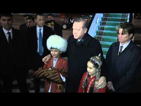 Turkish President Recep Tayyip Erdogan in Turkmenistan