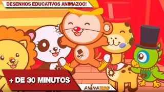 30min. de Desenhos Educativos Musicais Animazoo! + de 30 minutos de desenhos - 6 episódios COMPLETOS