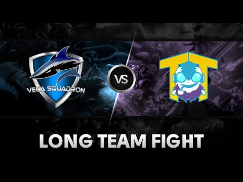Long team fight by Vega Squadron vs Team Tinker @DreamLeague Season 3