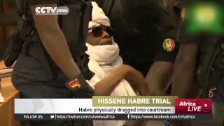 Former Chadian President physically dragged into courtroom