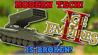 Age Of Empires 2 IS NOT PERFECTLY BALANCED! 100x Mod MODERN TECH Is 100% NOT Broken I Promise!!