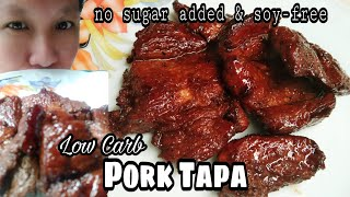 Low Carb LC Pork Tapa No Sugar Added Soy Free Keto LCIF Philippines Association | Misis B's Cube