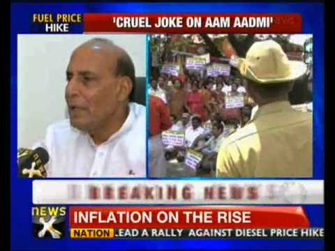 Govt playing cruel joke on common man: Rajnath Singh - NewsX