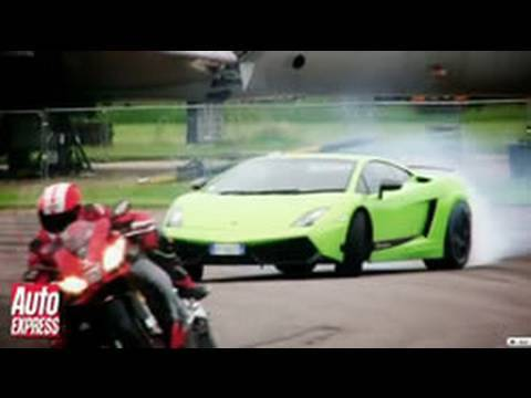 Lamborghini LP570-4 Superleggera vs Aprilia RSV4 Superbike - Auto Express
