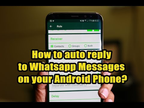 How to auto reply to Whatsapp Messages on your Android Phone?