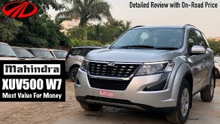 XUV 500 W7 2018 Detailed Review with On-Road Price | XUV500 W7 Model