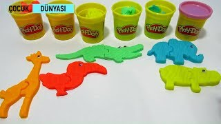 Play-Doh oyun hamurudan hayvan yapıyoruz - Eğlenceli çocuk videosu