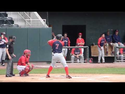 RedSox Prospect Garin Cecchini Triple Vs Harrisburg 8/18/13 HD