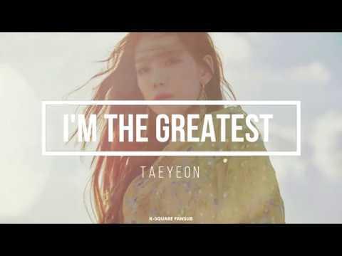 TAEYEON - I'M THE GREATEST (Sub Español   Eng Sub   Kanji   Roma) HD