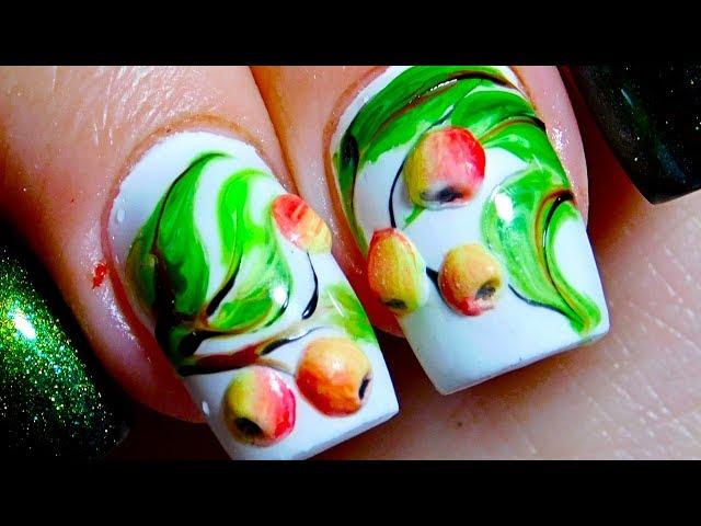 Дизайн ногтей Яблоки. ТОП удивителные дизайны ногтей. Красивый и простой маникюр