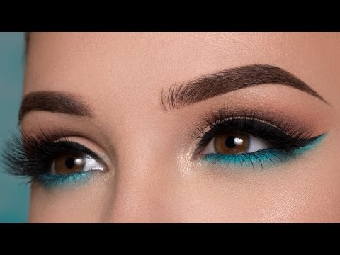 Pop of blue - Summertime Makeup Tutorial + Where Have I Been?