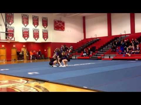Stunt Group Routine 2nd Place. West Stokes High School. Cheer for a Cure 2014.