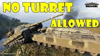 World of Tanks - Funny Moments | NO TURRET ALLOWED!