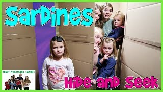 Sardines Hide and Seek In Huge Box Fort Maze! Ft. Shot Of The Yeagers / That YouTub3 Family