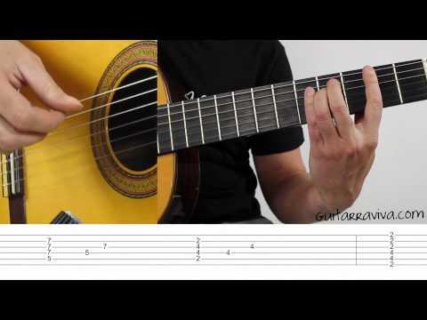 Shape Of My Heart - Arpegios en guitarra , clases como tocar, Fingerpicking Fácil Tocar con dedos