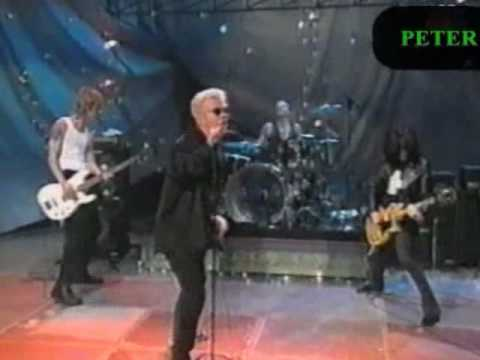 Billy Idol Steve Stevens Matt Sorum&Duff McKagan performing circa xmas 1995
