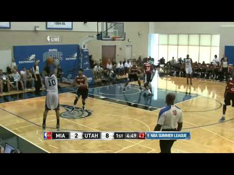 Trey Burke First Summer League Jazz Game Highlights vs Miami 2013-07-07