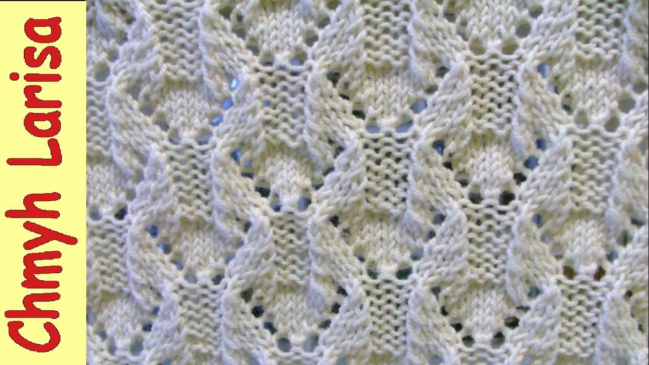 Ажурное вязание спицами на ютубе