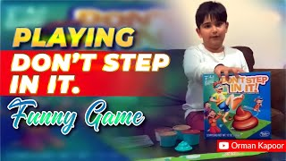 Playing Don't Step IN IT. Funny Game