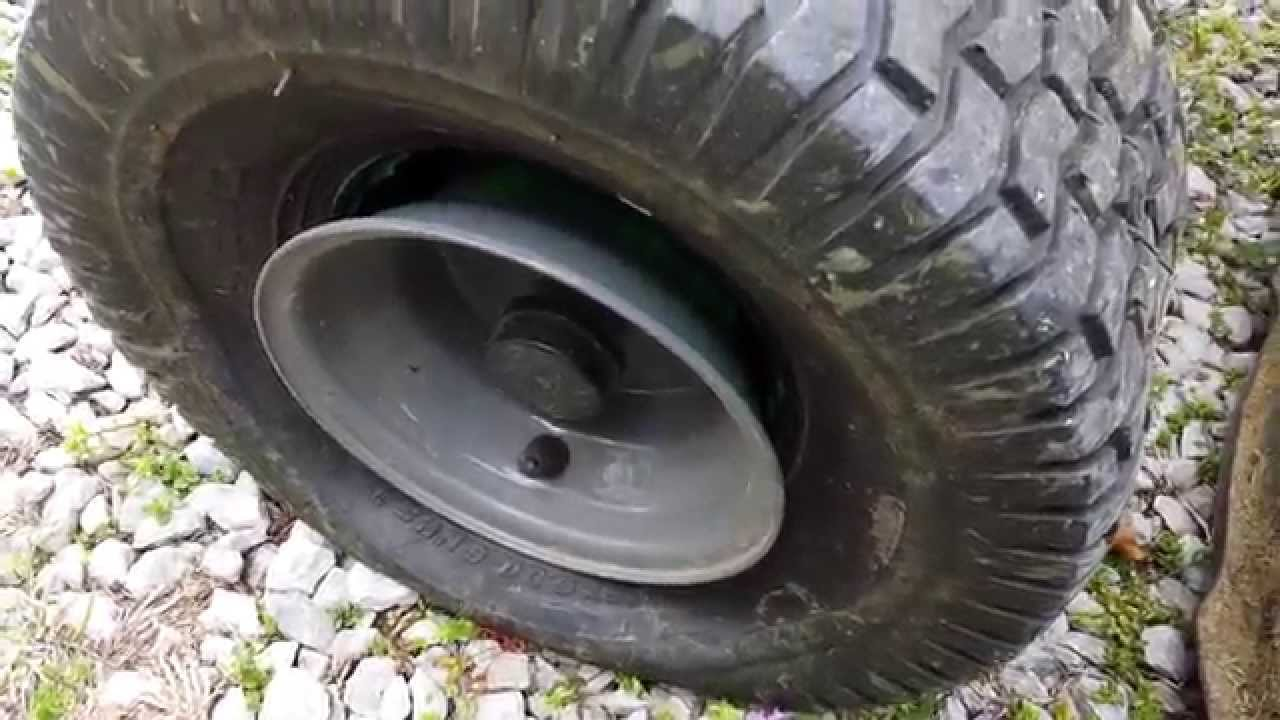 Fixing A Lawn Mower Tire That Popped Off The Wheel Youtube