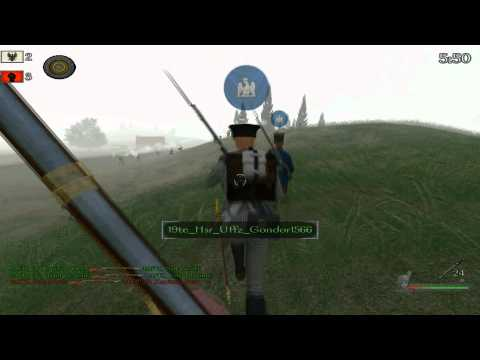 Mount and Blade: Warband - Napoleonic Wars Gameplay 4/19/12 19te Prussian Infantry