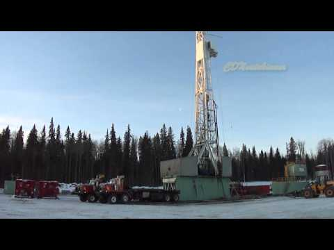 Drilling Rig Skid Move with BedTrucks