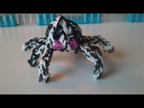 Как сделать из резинок паука