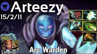 Arteezy plays Arc Warden!!! Dota 2 7.22