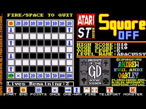 ATARI ST Square Off (OTHER) from Atari ST Review XXX Magazine 1992Oakley, AndrewPD zip Shortcut
