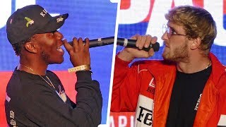 HEATED WORDS !! - KSI vs. Logan Paul Documentary Premiere  |  DAZN