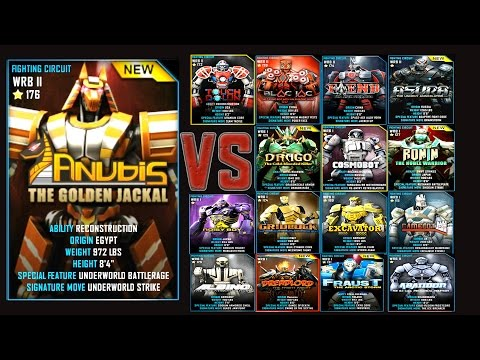 Real Steel WRB FINAL ANUBIS Series of fights NEW ROBOT (Живая Сталь)